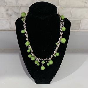 Accessories - Green and Silver Necklace